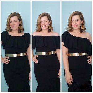 LuLaRoe Black convertible off the shoulder dress